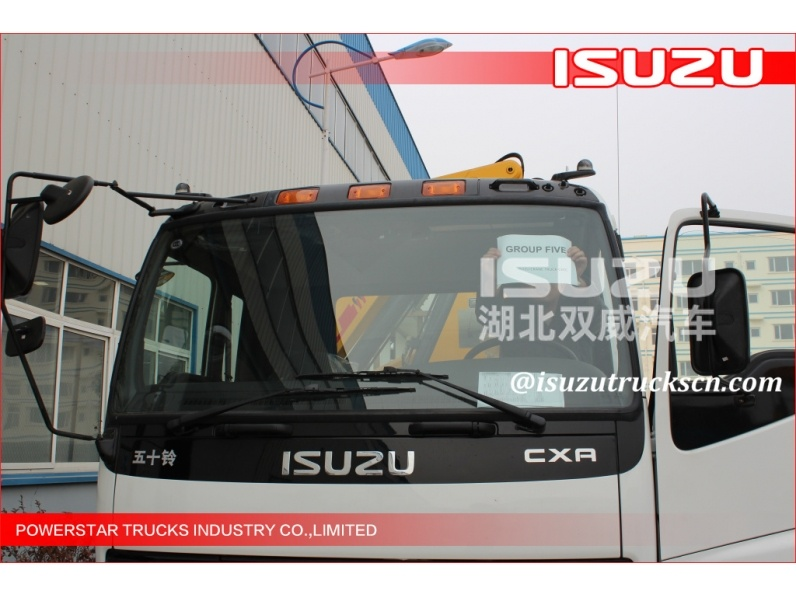 10wheels Isuzu 12ton Straight Arm Truck Mounted Crane for sale
