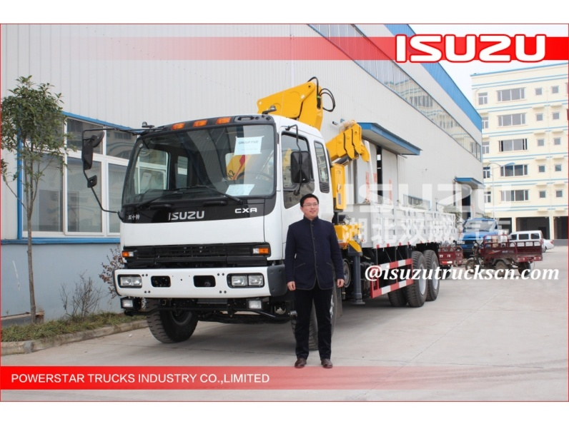 Durable Hydraulic Lifting Telescopic Boom Truck Crane ISUZU truck