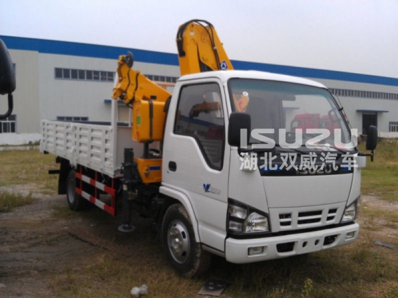 Isuzu 1400kg T truck mounted crane , the best tipper truck with crane