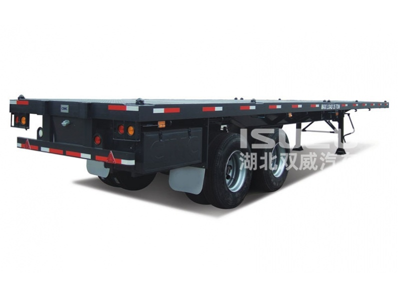 2016 new low price 30-40 ton flatbed trailer tandem bogie axle