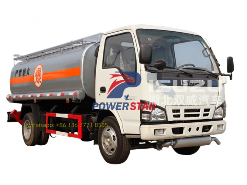 4000L (1,056 US Gallon) 4x2 ISUZU chassis (115HP) Mobile Refueling truck for Light Gasoline/Diesel Delivery
