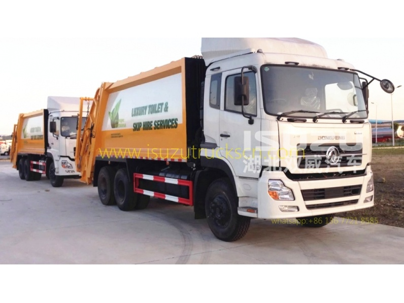 Hydraulic garbage compactor truck Dongfeng garbage truck 20cbm