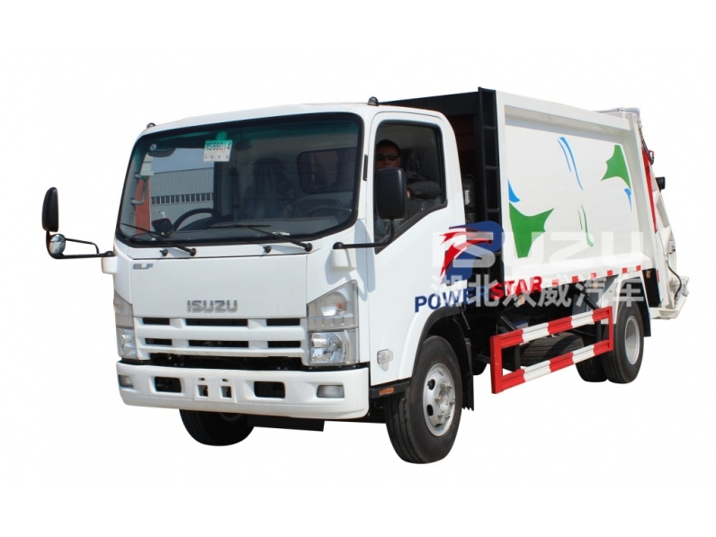 compression refuse collector truck Isuzu compactor refuse truck