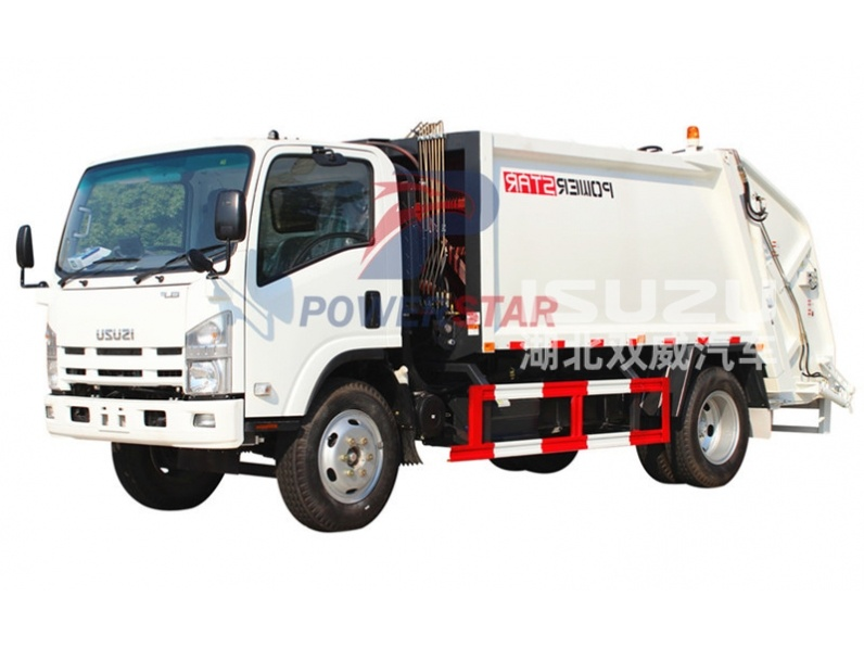 waste collection compactor truck Isuzu for sale
