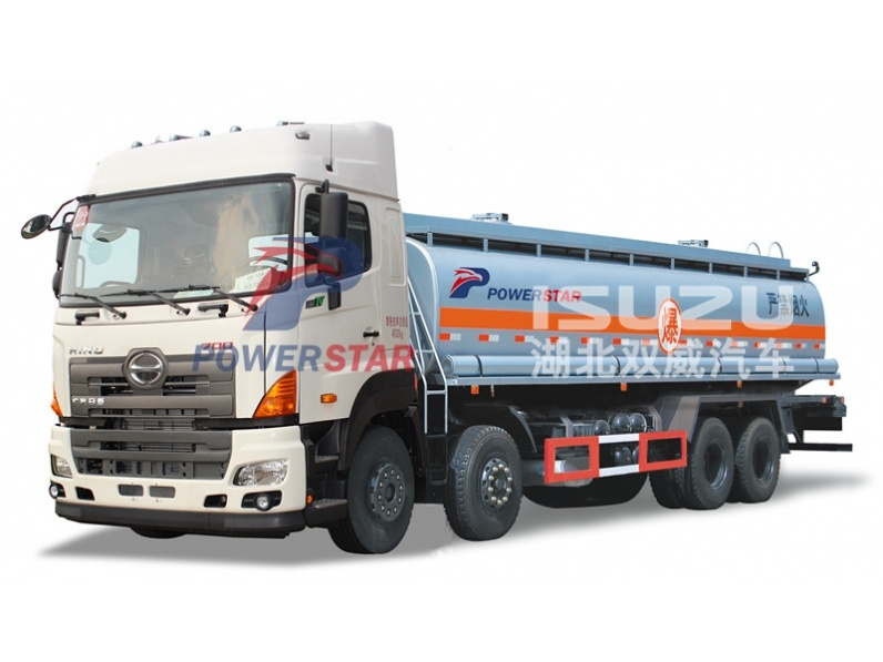Custom build 5000-20000L Hino Fuel Transport Fuel Tank Truck for Sale