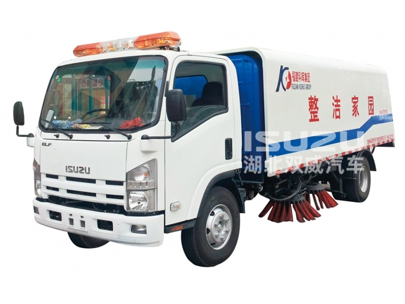 road waste sweeping truck Isuzu
