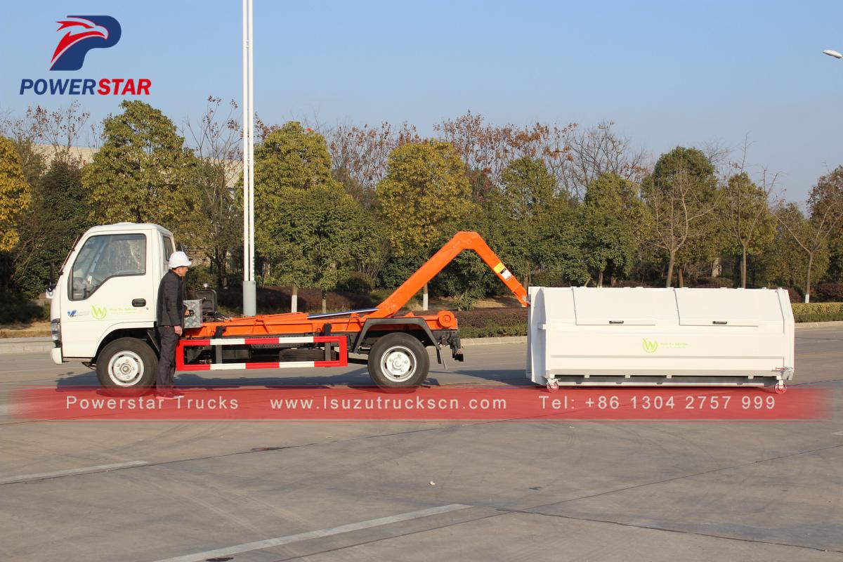 nouveau style japon hooklift refuser collection camion ordures isuzu gout nettoyage camions. Black Bedroom Furniture Sets. Home Design Ideas