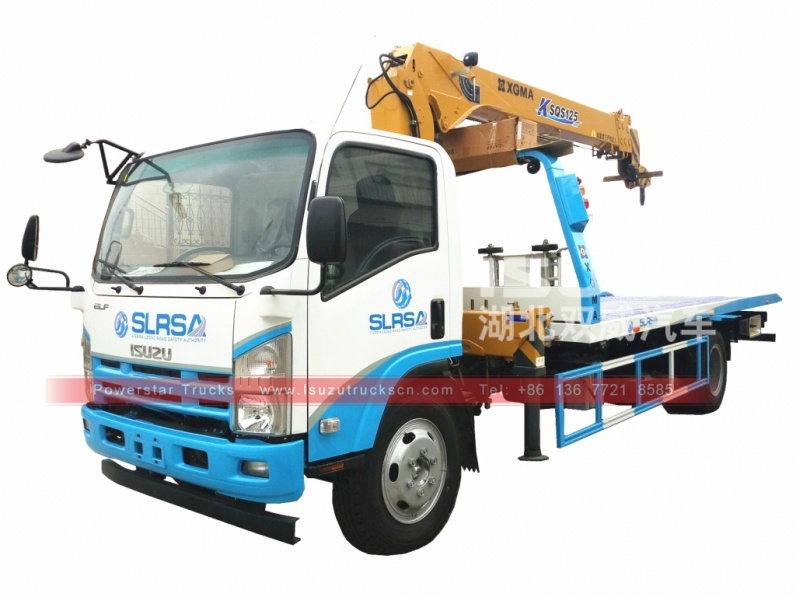 Japan Isuzu flat bed wrecker tow truck for sale