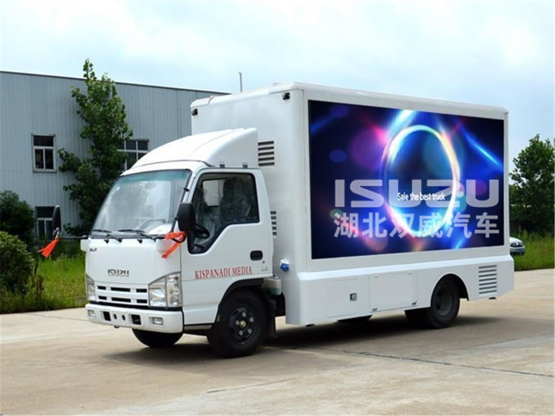ISUZU Outdoor P8 advertising billboard tralier mobile led screen truck for sale