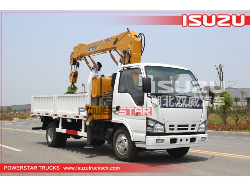 Japan Isuzu Construction telescopic boom  crane trucks for sale