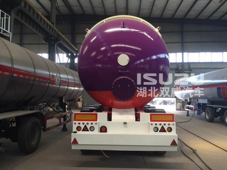 38000L LPG Lorry Tank Semi Trailer with 3 Axles for Liquid Chloroethylene