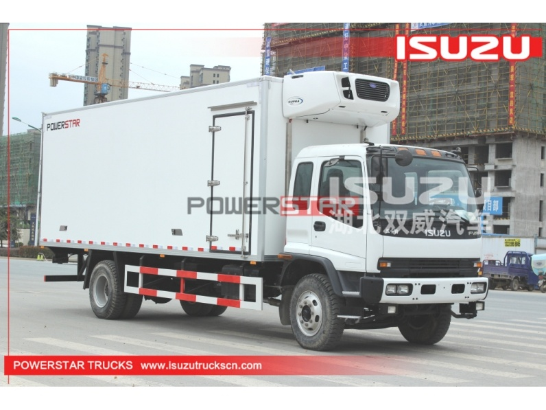 Japan ISUZU Freezer Food Transport Refrigerated Box Truck for sale