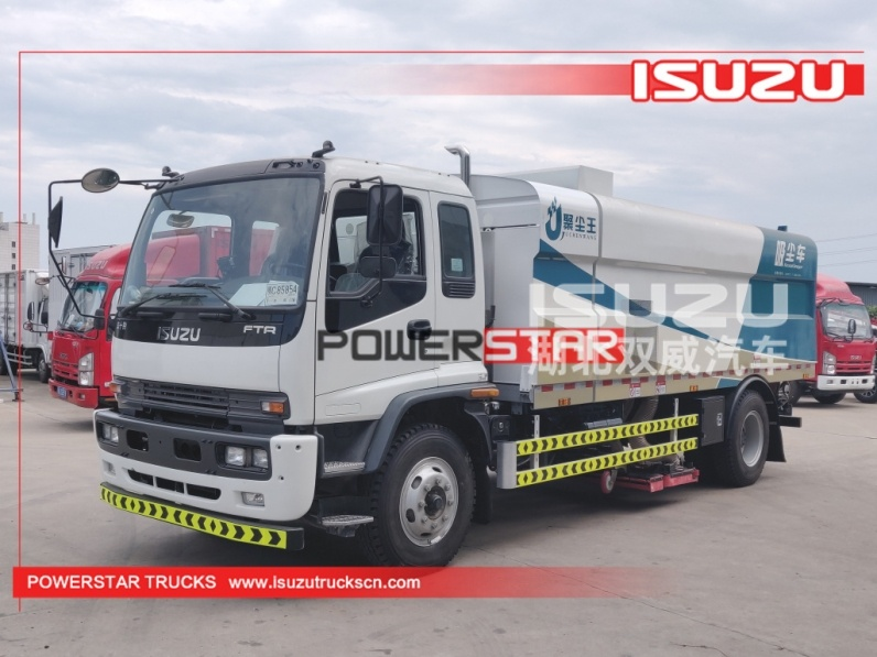 ISUZU cleaning garbage truck sweeper road vacuum cleaners