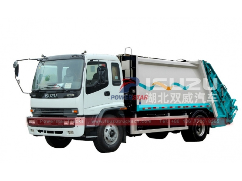 Philippines Isuzu Rear Loader Refuse Trcuk