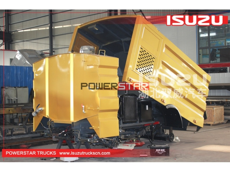 Isuzu chassis road sweeper truck body kits for sale
