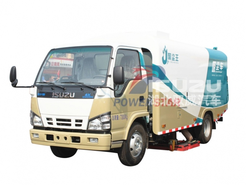 Newest 5m3 Pure Vacuum Suction Sweeper Isuzu Dirty suction Vehicle-PowerStar Trucks