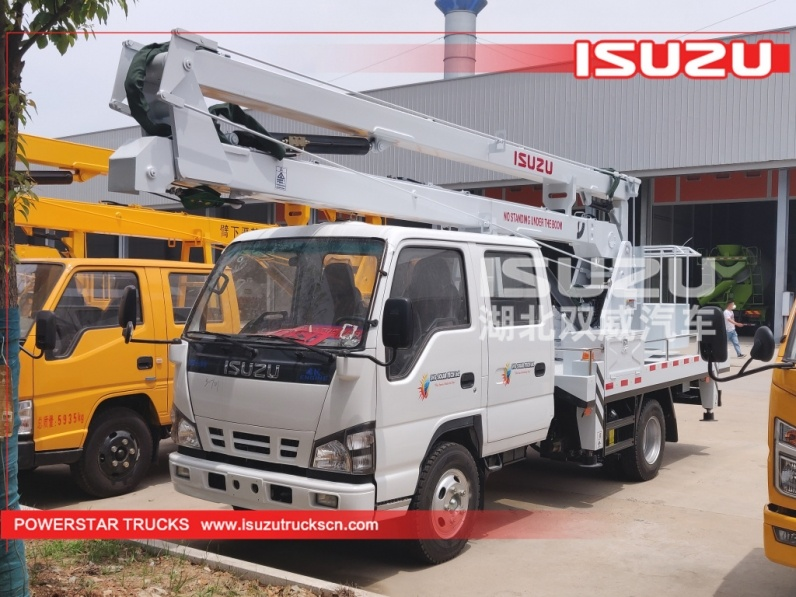 Chinese best supplier 14m Telescopic Bucket Truck Isuzu Lifting Equipment