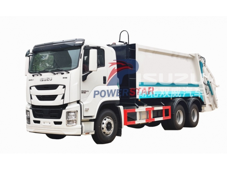 Rear Load Garbage Trucks ISUZU GIGA Hydraulic Garbage Compactor Vehicle
