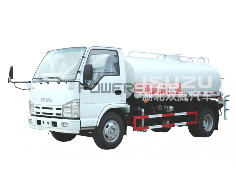 Japan Brand Isuzu 4X2 Drinking Water Truck with Spray Bar for Water Delivery and Spray