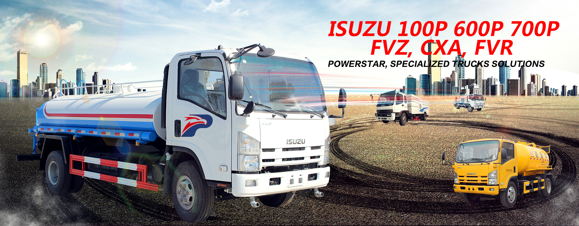 Water jetting truck Isuzu high pressure jetting vehicle