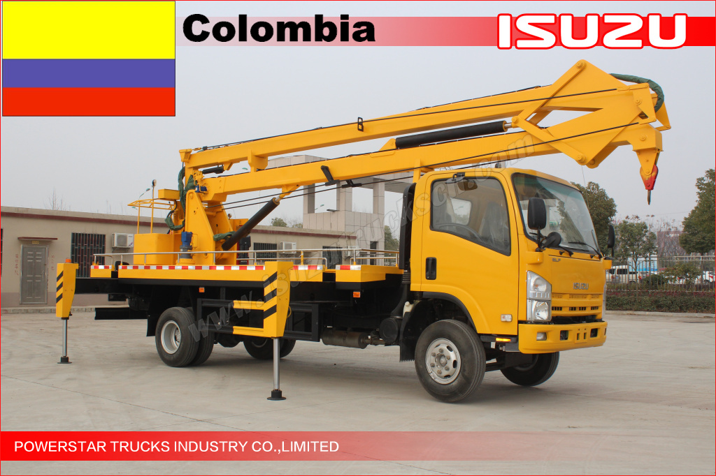 camion nacelle elfe - colombie